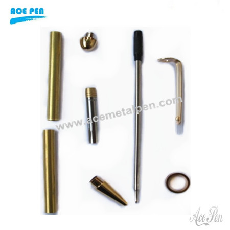 Round Top European pen kits is 24kt Gold
