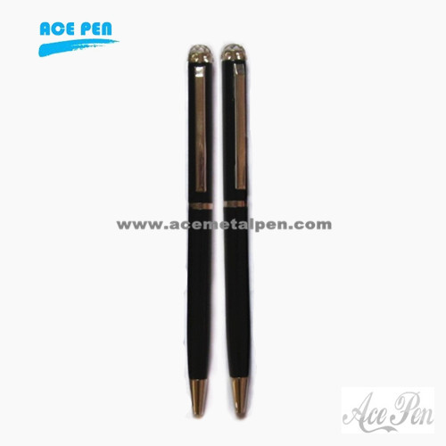 Slim Ball Pen with Crystal on the top