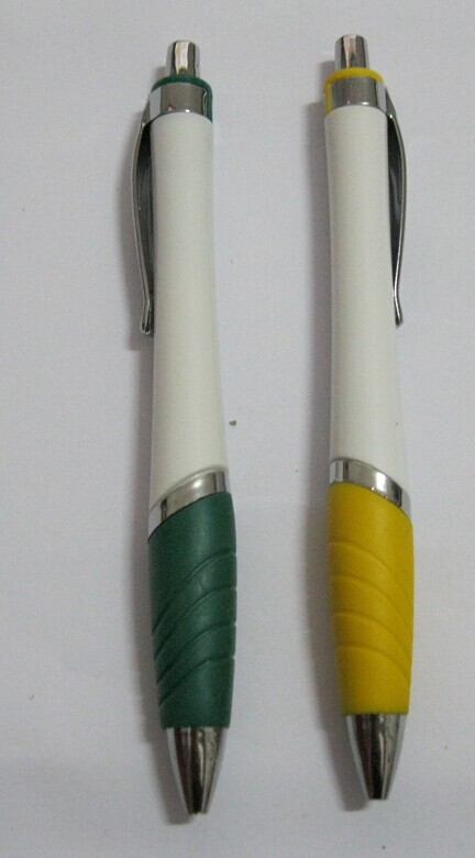 Plastic click version ball pen for promotional gifts